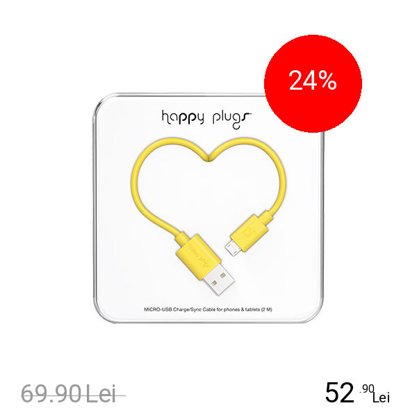 HAPPY PLUGS Cablu Date Micro USB 2M