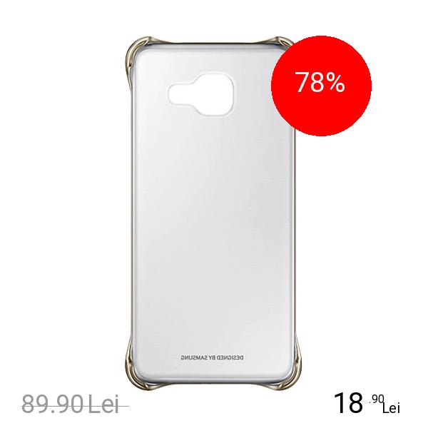 Samsung Husa Capac Spate Clear Auriu Samsung Galaxy A3 2016