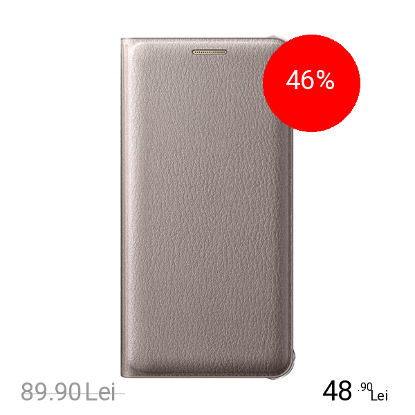 Samsung Husa Agenda Wallet Auriu Samsung Galaxy A3 2016