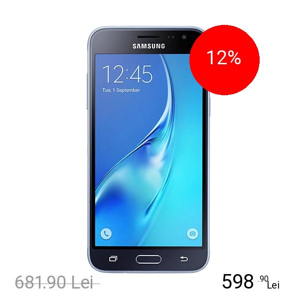 Samsung Galaxy J3 2016 Dual Sim 8GB LTE 4G Negru 1.5GB RAM