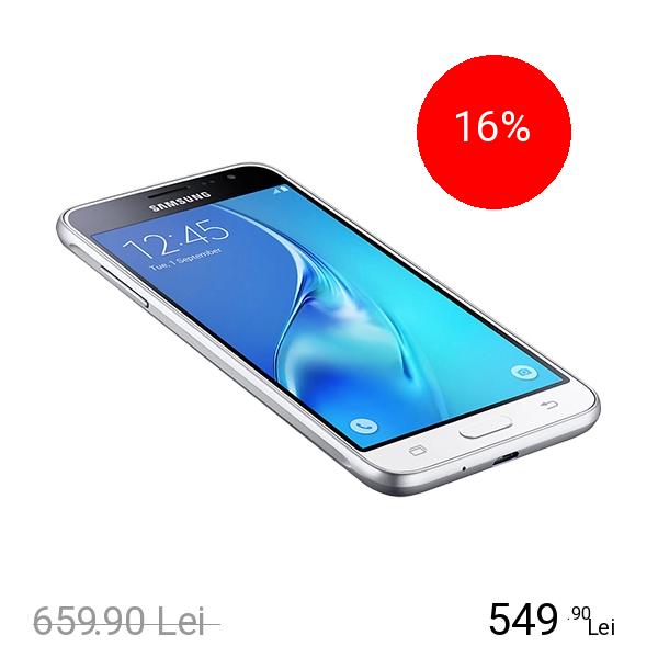 Samsung Galaxy J3 2016 Dual Sim 8GB LTE 4G Alb 1.5GB RAM