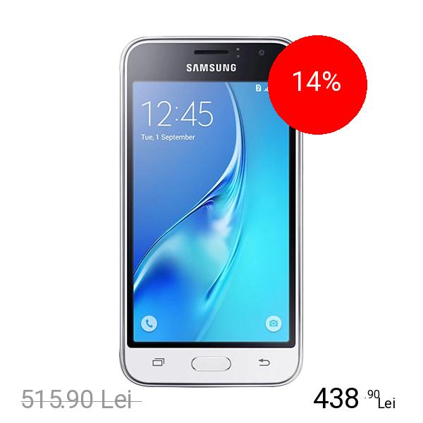Samsung Galaxy J1 2016 Dual Sim 8GB 3G Alb