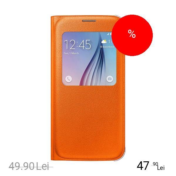 Samsung Husa Agenda S View Portocaliu SAMSUNG Galaxy S6