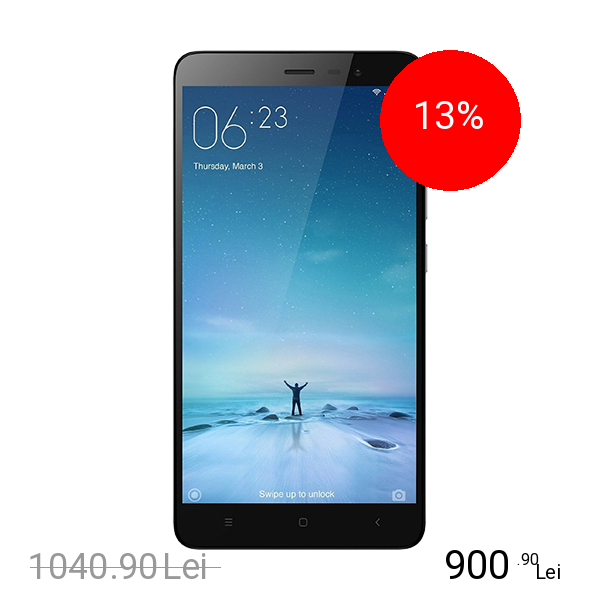Xiaomi Redmi Note 3 Pro Dual Sim 16GB LTE 4G Negru Argintiu