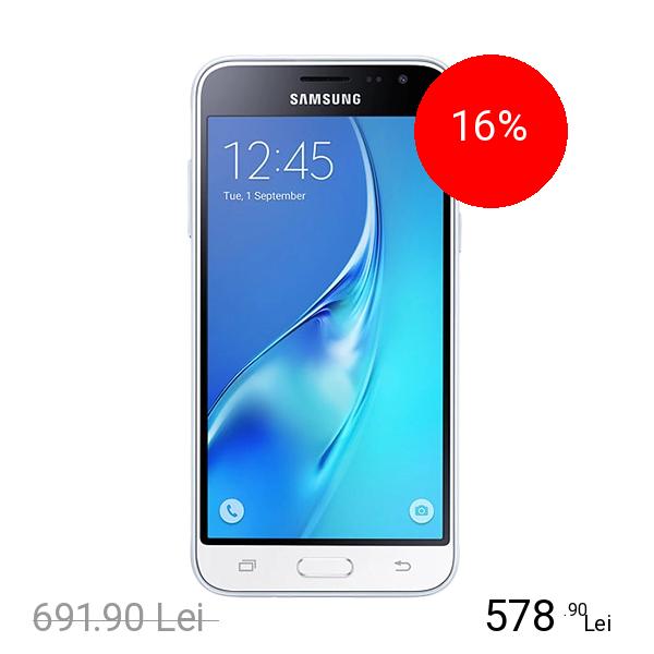 Samsung Galaxy J3 2016 Dual Sim 8GB 3G Alb title=Samsung Galaxy J3 2016 Dual Sim 8GB 3G Alb