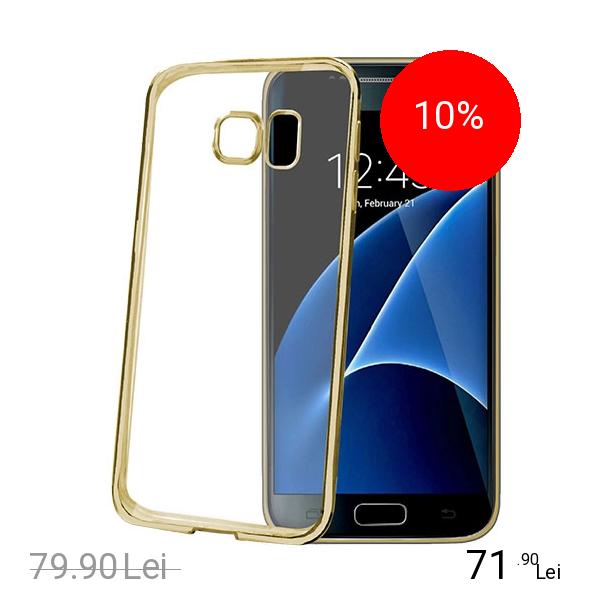 Celly Husa Capac spate Laser Auriu Samsung Galaxy S7