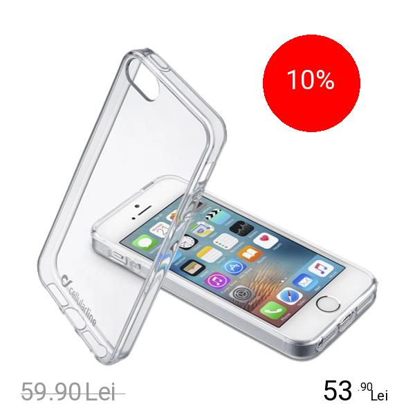 Cellularline Husa Capac Spate Bi-Component Transparent APPLE iPhone SE