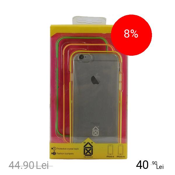 CASE SCENARIO Husa Bumper 3 in 1 + Capac Spate Neon Boy Multicolor APPLE iPhone 6, iPhone 6S