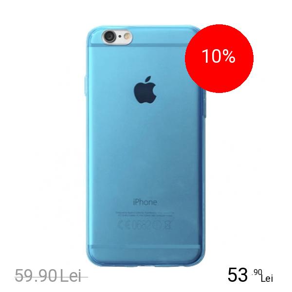 Cellularline Husa Capac Spate Fluo Albastru APPLE iPhone 6, iPhone 6S