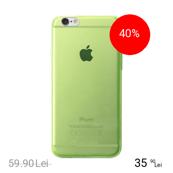 Cellularline Husa Capac Spate Fluo Verde APPLE iPhone 6, iPhone 6S