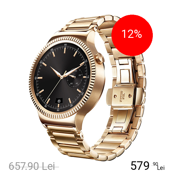 Huawei Smartwatch 42MM Otel Inoxidabil Auriu Si Curea Metal Auriu Link