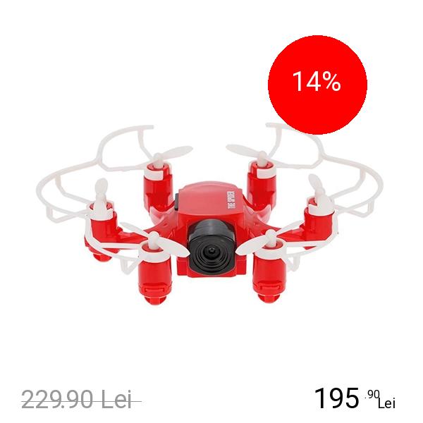 STAR Mini Drona 126 Spider Hexacopter Cu Camera HD 2.0Mp Rosu