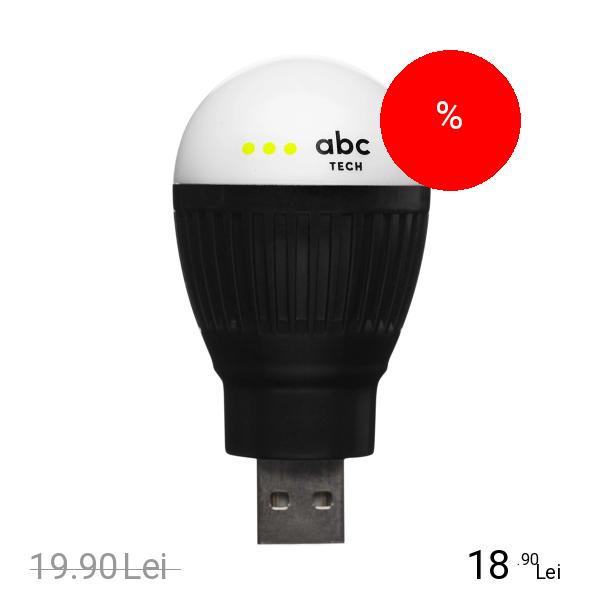 ABC Tech Bec Bulb USB Negru