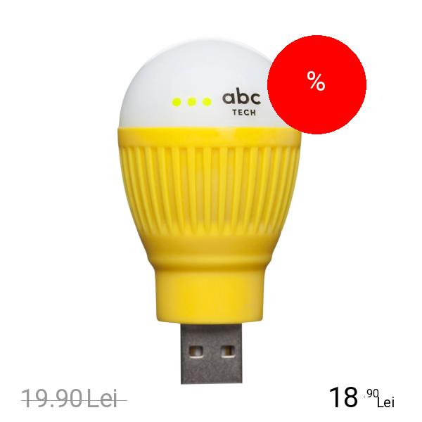 Imagine indisponibila pentru ABC TECH Bec Bulb USB Galben