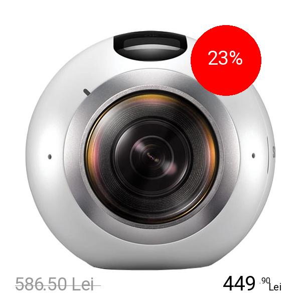 Samsung Camera Video Si Foto Gear VR 360 Splashproof Alb