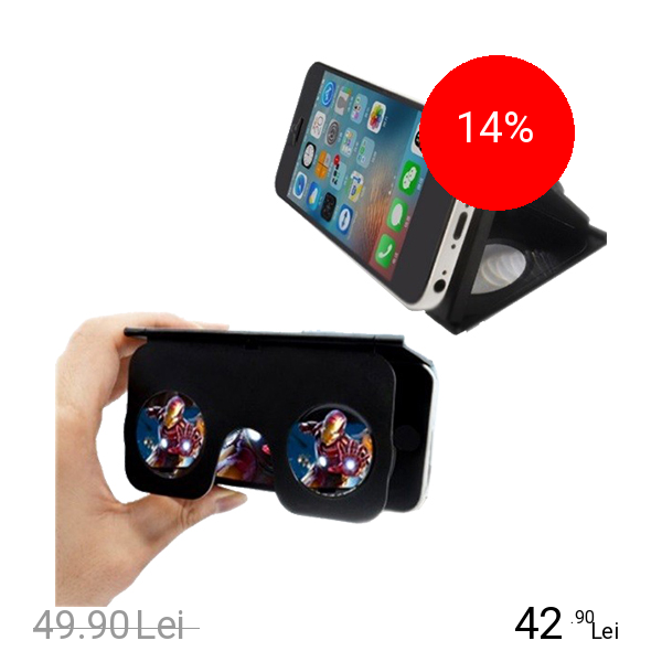 Imagine indisponibila pentru STAR Ochelari Inteligenti Mini VR Tip Husa Negru