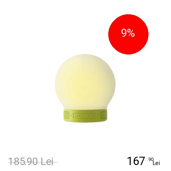 EMOI Lampa Mini Smart Led Cu Touch Si Boxa Bluetooth Verde