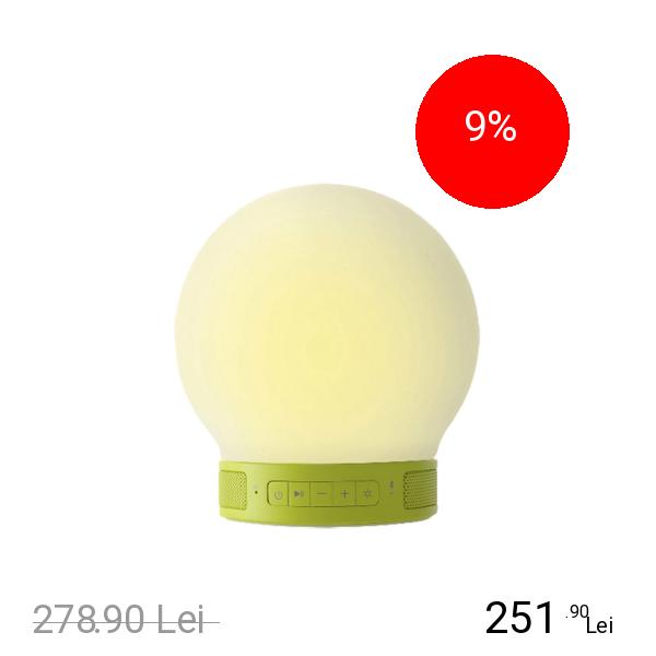EMOI Lampa Plus Smart Led Cu Touch Si Boxa Bluetooth Verde