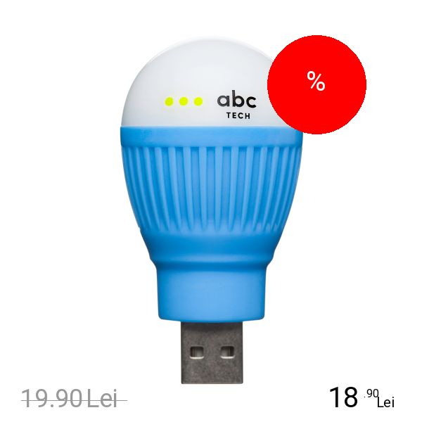 Imagine indisponibila pentru ABC TECH Bec Bulb USB Albastru
