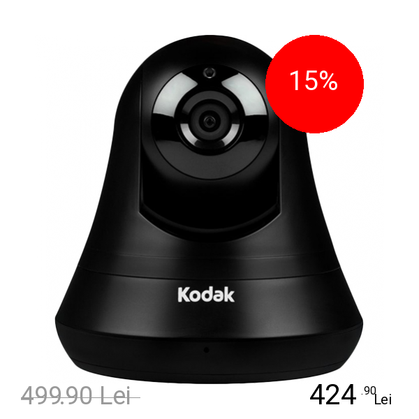 KODAK Camera de Supraveghere HD Wi-Fi Stocare Cloud 24H + Zoom Si Rotire