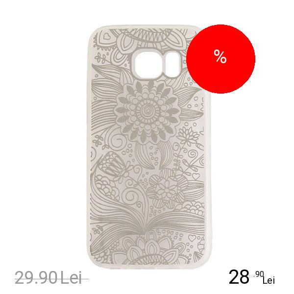 YUPPI LOVE TECH Husa Capac Spate Spirit Natural Argintiu Samsung Galaxy S7 Edge