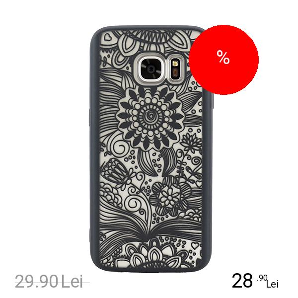 YUPPI LOVE TECH Husa Capac Spate Spirit Natural Negru SAMSUNG Galaxy S6 Edge