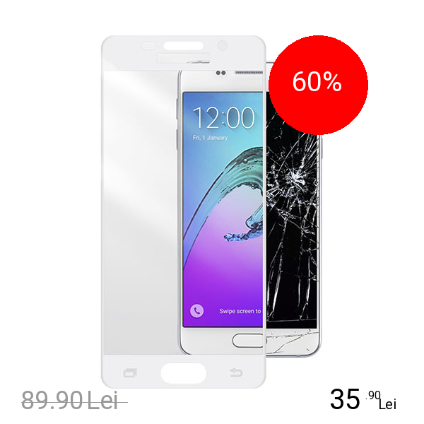 Cellularline Sticla Securizata Full Body Anti-Shock Alb Samsung Galaxy A5 2016