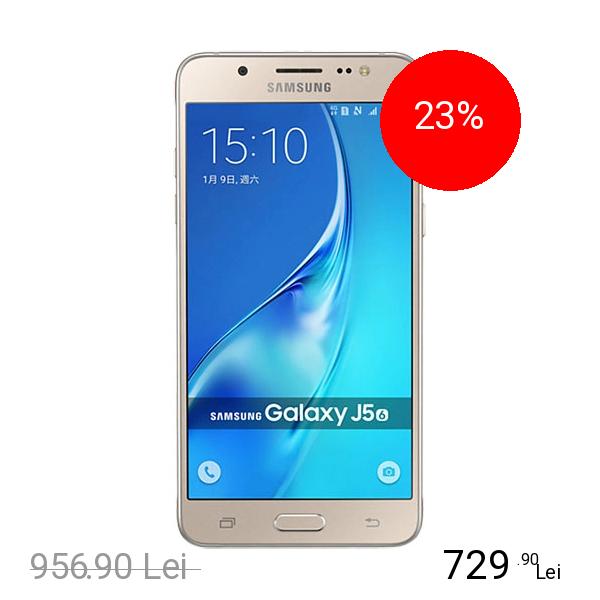 Samsung Galaxy J5 2016 Dual Sim 16GB LTE 4G Auriu