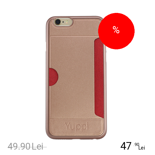 YUPPI LOVE TECH Husa Capac Spate Card Slot Roz APPLE iPhone 5s, iPhone SE