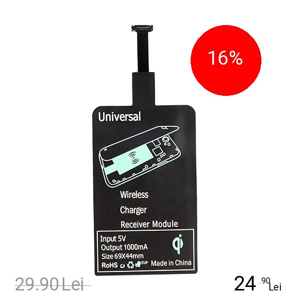 STAR Receptor Incarcare Wireless Pentru Toate Telefoanele Android Negru