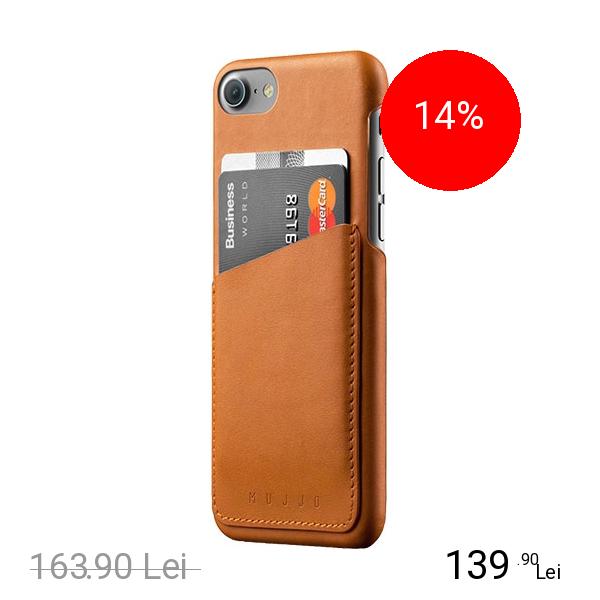 MUJJO Husa Capac Spate Wallet Piele Maro Apple iPhone 7, iPhone 8