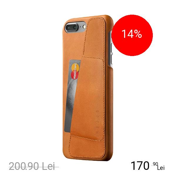 MUJJO Husa Capac Spate Wallet Piele Maro Apple iPhone 7 Plus