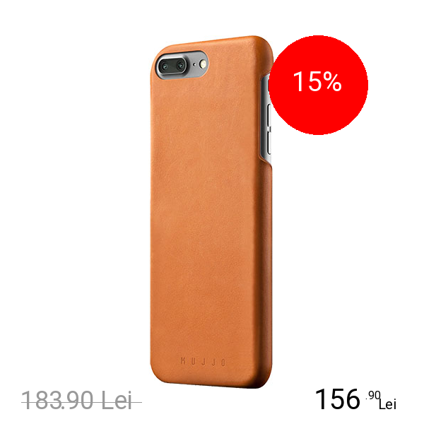 MUJJO Husa Capac Spate Piele Maro Apple iPhone 7 Plus, iPhone 8 Plus