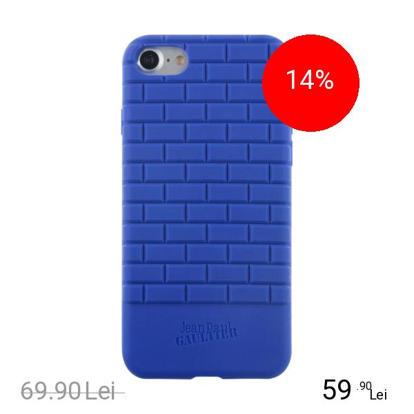 Jean Paul Gaultier Husa Capac Spate Albastru Apple iPhone 7, iPhone 8