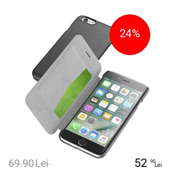 Cellularline Husa Agenda Essential Negru Apple iPhone 7, iPhone 8