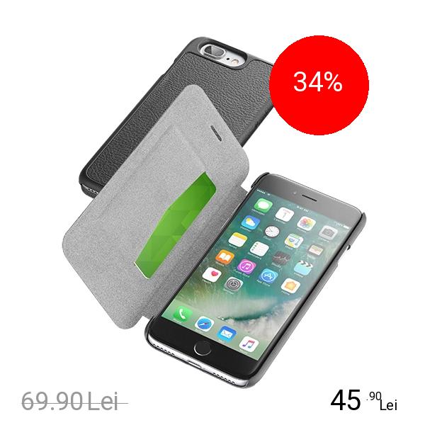 Cellularline Husa Agenda Essential Negru Apple iPhone 7 Plus, iPhone 8 Plus