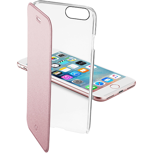 Cellularline Husa Agenda Clear Roz Apple iPhone 7, iPhone 8
