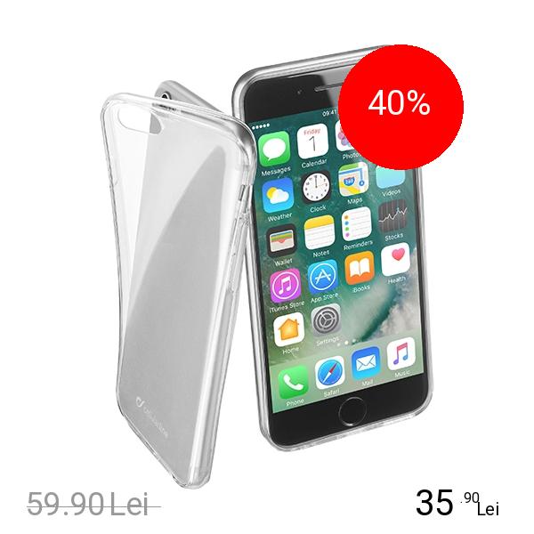 Cellularline Husa Capac Spate Transparent Apple iPhone 7, iPhone 8