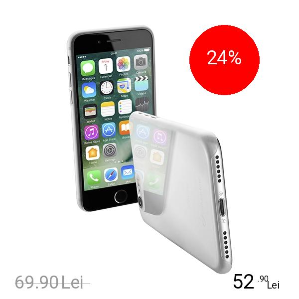 Cellularline Husa Capac Spate Ultra Slim Gri Apple iPhone 7, iPhone 8