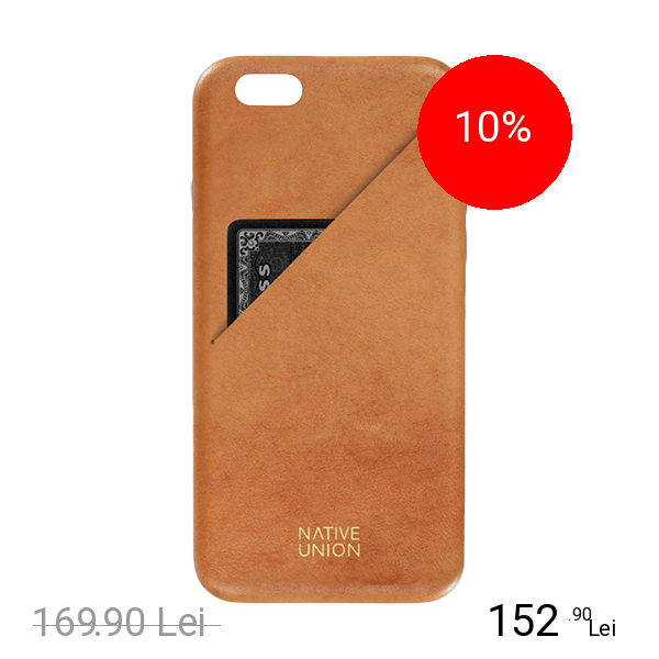 NATIVE UNION Husa Capac Spate Clic Cu Slot Pentru Card Maro Apple iPhone 7 Plus, iPhone 8 Plus