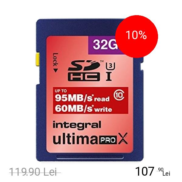 Integral Card Memorie SDHC Class 10 U-PRO 95/60MB/s 32GB
