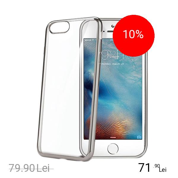Celly Husa Capac Spate Bumper Argintiu Apple iPhone 7, iPhone 8 title=Celly Husa Capac Spate Bumper Argintiu Apple iPhone 7, iPhone 8