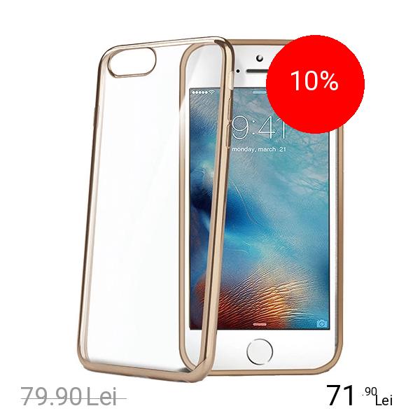 Celly Husa Capac Spate Bumper Auriu Apple iPhone 7, iPhone 8