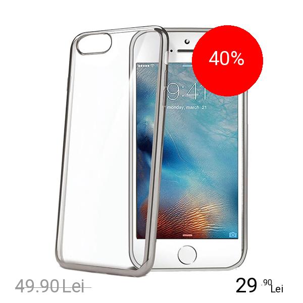Celly Husa Capac Spate Bumper Argintiu Apple iPhone 7 Plus, iPhone 8 Plus