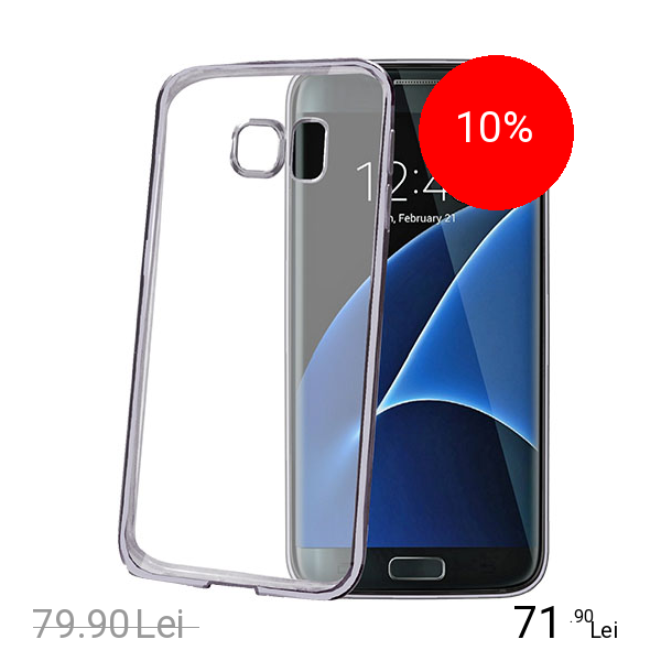 Celly Husa Capac Spate Bumper Negru Samsung Galaxy S7 Edge