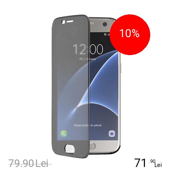 Cellularline Husa Agenda Book Touch Negru Samsung Galaxy S7