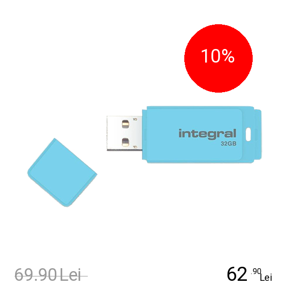 Integral Stick USB 32GB Pastel Blue Sky 3.0 Albastru