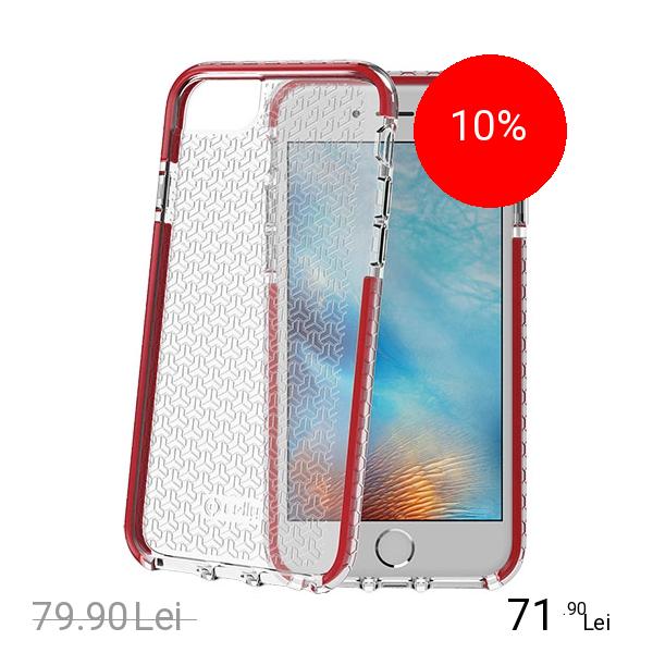 Celly Husa Capac Spate Hexagon Rosu Apple iPhone 7, iPhone 8