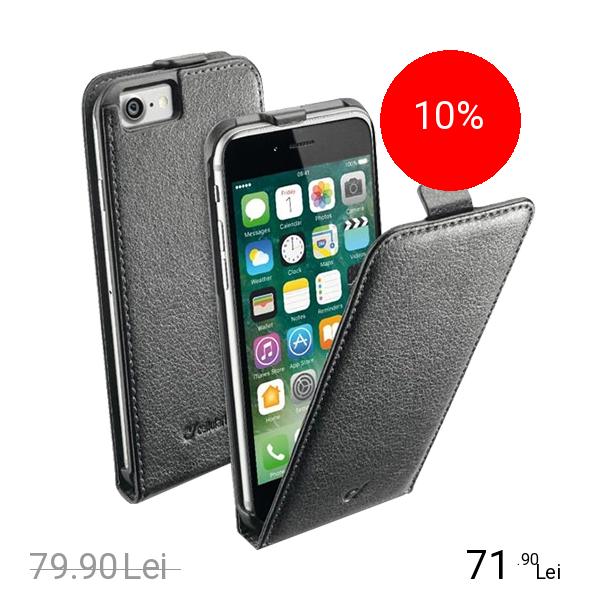 Cellularline Husa Flip Negru Apple iPhone 7, iPhone 8