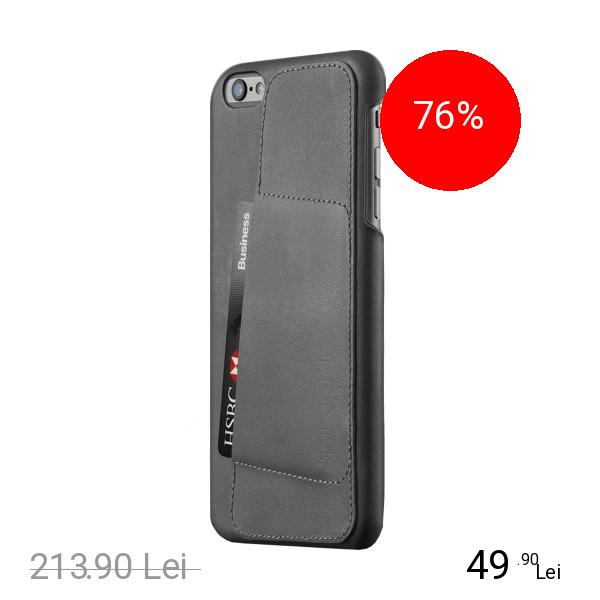 MUJJO Husa Capac Spate 80 Wallet Piele APPLE iPhone 6 Plus, iPhone 6s Plus